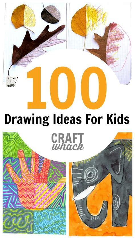 100 Crazy Cool Drawing Ideas for Kids Art for Kids and