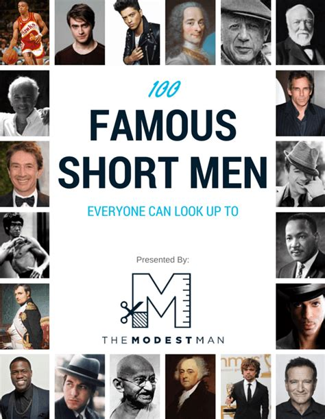 100 Famous Short Men By Height The Modest Man