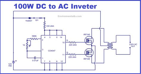 100 Watt inverter circuit Electronic Circuits and