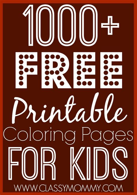 1000 Free Printable Coloring Pages For Kids