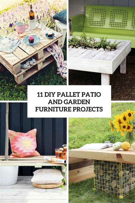 11 DIY Pallet Patio And Garden Furniture Projects