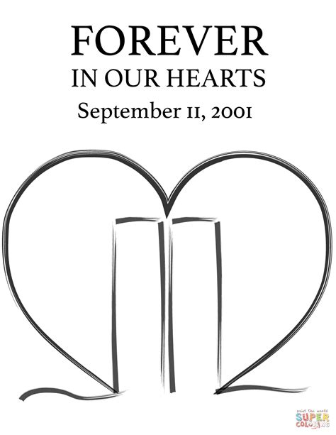 11th September Memorial coloring page Free Printable
