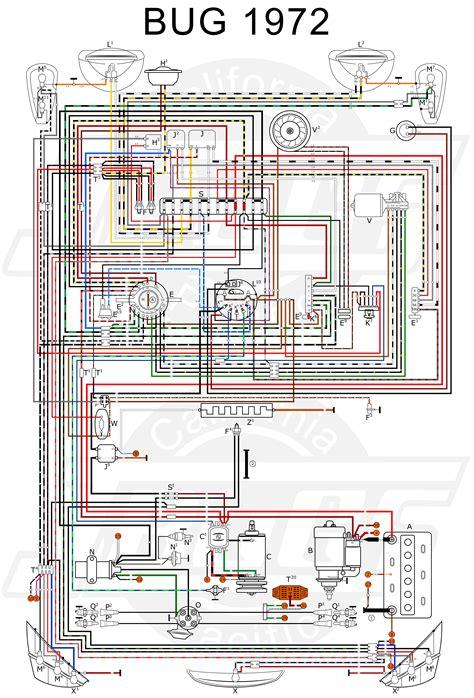 free download ebooks 11x17 Color Wiring Diagram 1971 Vw Super Beetle Bug