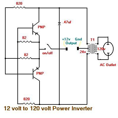 12 Vdc 120 Vac Inverter Schematic