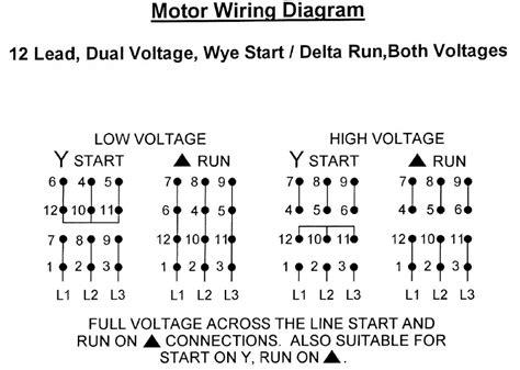 free download ebooks 12 Lead Wye Start Delta Run Motor Wiring Diagram