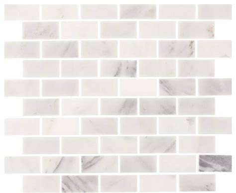 12 x12 Aspen White Marble Minibrick Subway Tile