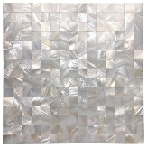 12 x12 Mother of Pearl Mosaic Backsplash Tile Tile