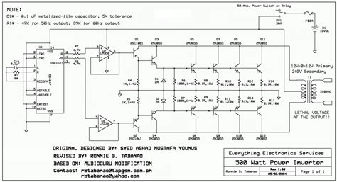 12V to 120V Inverter circuit diagram Aaron Cake