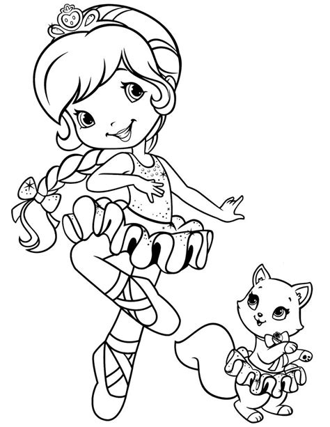 141 best Strawberry Shortcake coloring pages images on