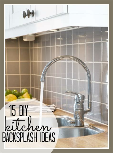 15 DIY Kitchen Backsplash Ideas Tipsaholic