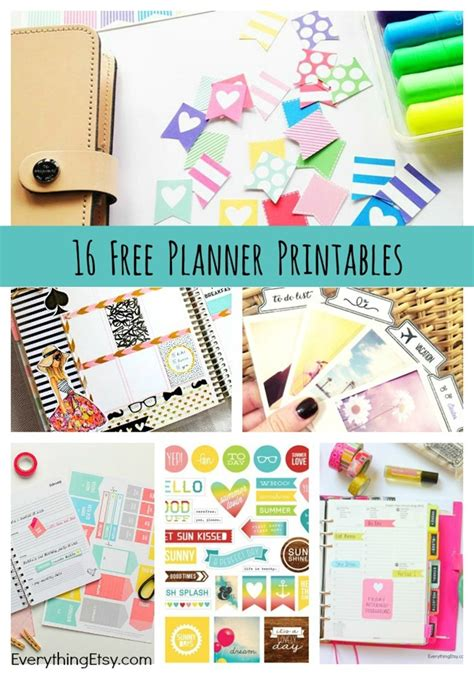 16 Free Planner Printables EverythingEtsy