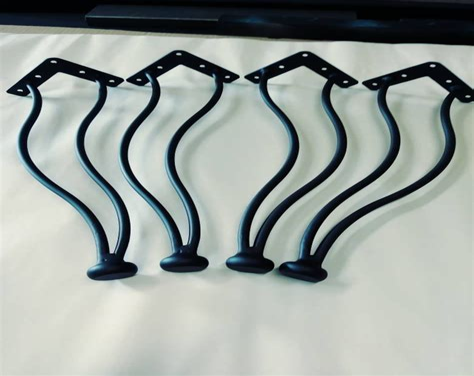 16 Hairpin Legs Coffee Table Leg Clear Coated Steel