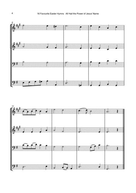16 Favourite Easter Hymns For Brass Quartet Two Trumpets Trombone And Tuba  music sheet