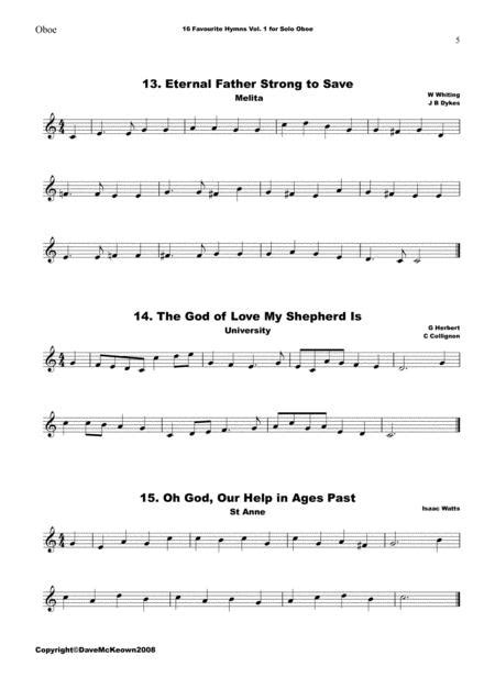 16 Favourite Easter Hymns For Oboe And Bassoon Duet  music sheet