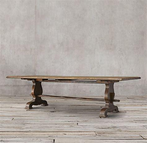17th C Spanish Walnut Trestle Rectangular Dining Table