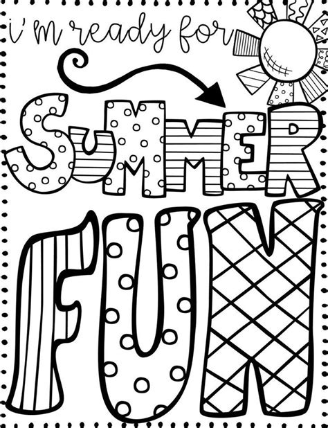 18 fun free printable summer coloring pages for kids