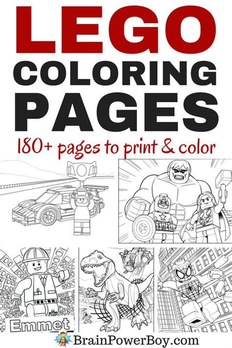 180 Free Printable LEGO Coloring Pages Brain Power Boy