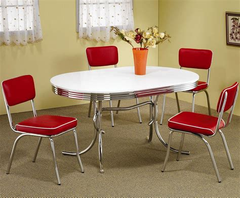 1950 s Dinette Set Oval American Chairs
