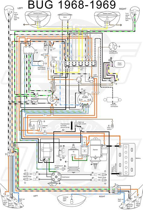 volkswagen beetle wiring diagram images mustang dash 1968 volkswagen wiring diagram eck