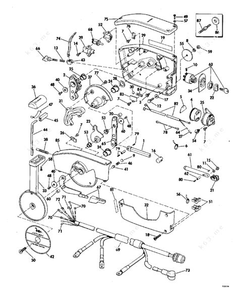 1977 evinrude 115 wiring diagram images wiring diagram for 1978 1977 55el77d johnson outboard remote control diagram and parts