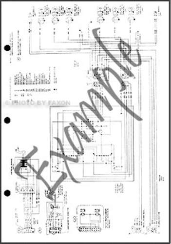 1983 Ford F100 F150 F250 F350 Foldout Wiring Diagram Original