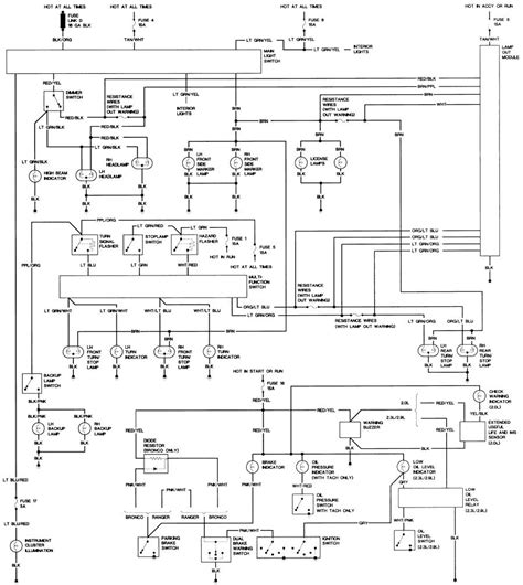 1988 Ford Bronco II Stereo Wiring Diagram