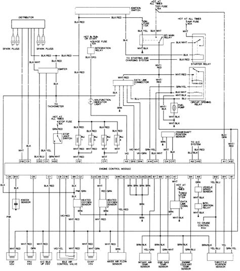 1993 1995 Toyota Corolla Vehicle Wiring Chart and Diagram