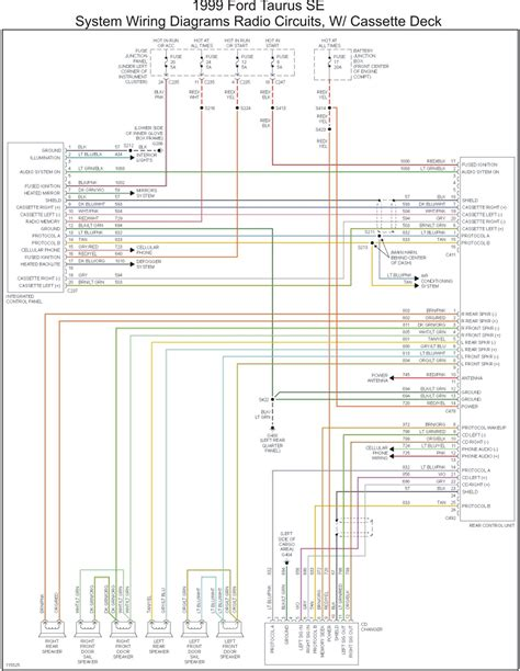 1998 ford taurus wiring diagram for radio images wiring diagram 1998 ford taurus radio wiring diagram circuit and