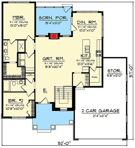 2 Bed Ranch with Open Concept Floor Plan 89981AH
