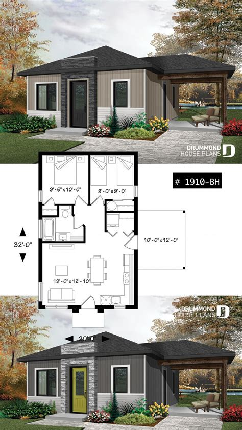 2 Bedroom Small House Plans Single Floor Designs Simple
