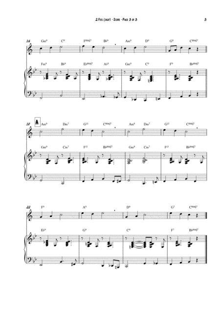2 Feel Easy Version Arranged For Flute And Piano  music sheet