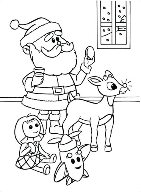 20 Best Rudolph The Red Nosed Reindeer Coloring Pages
