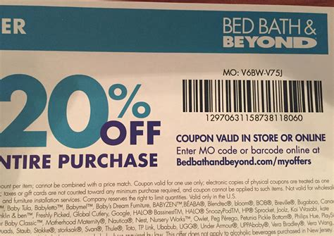 20 Off Bed Bath and Beyond Canada Coupon