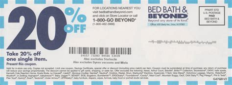 20 Off Bed Bath and Beyond Printable Coupon October 2017