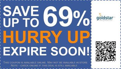 20 Off GoldStar Coupon Promo Codes RetailMeNot