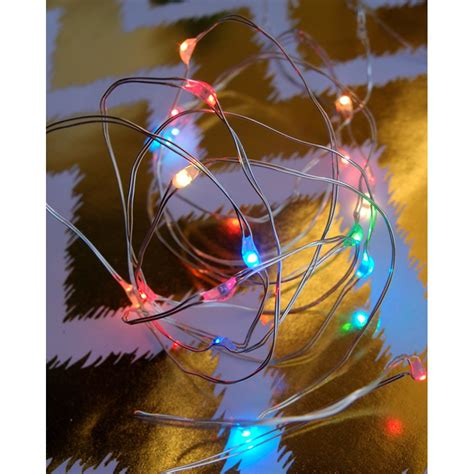 20 White LED Micro Fairy String Lights 6ft Battery Operated