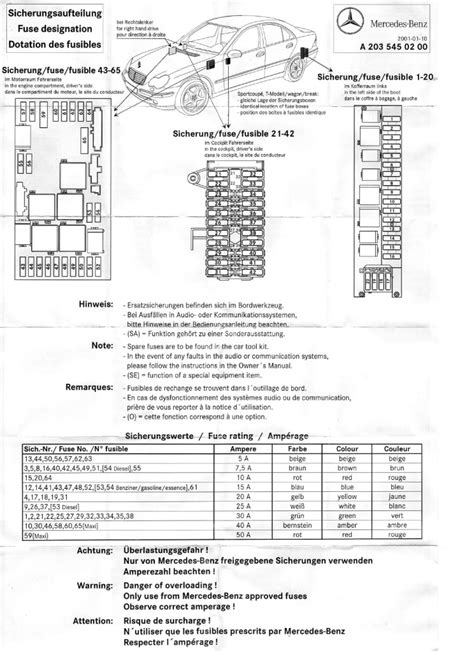 free download ebooks 2003 Mercedes C240 Fuse Diagram