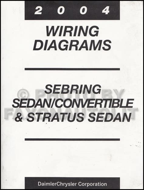2004 Mopar Stratus Sebring Sedan Covertible Wiring Diagram