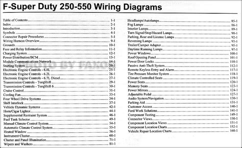 2011 Ford F 250 thru 550 Super Duty Wiring Diagram Manual