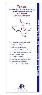 2012 TAS Texas Accessibility Standards Texas