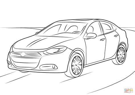 2016 Dodge Dart coloring page Free Printable Coloring Pages