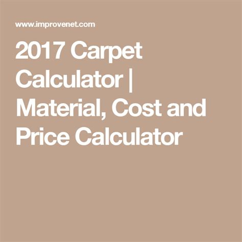 2017 Carpet Calculator Material Cost and Price Calculator