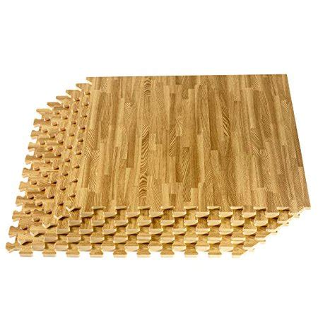 24 SQFT We Sell Mats Wood Grain Interlocking Foam Anti