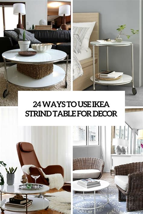 24 Ways To Use IKEA Strind Coffee Table For Decor DigsDigs