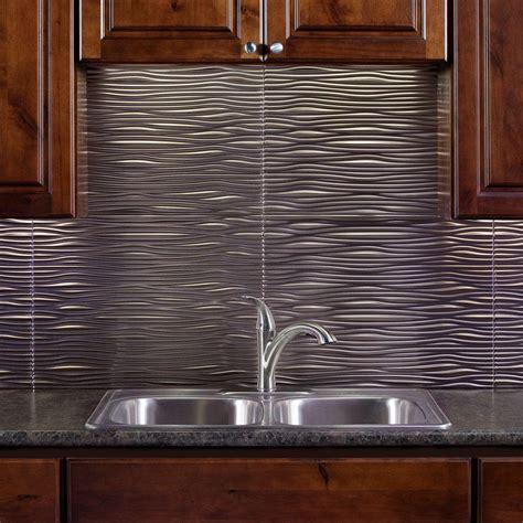 24 in x 18 in Waves PVC Decorative Tile Backsplash in