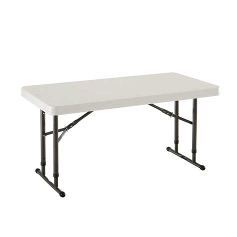 24 in x 48 in Almond Adjustable Height The Home Depot