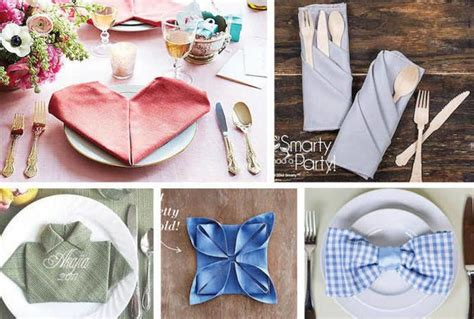 28 Napkin Folding Techniques That Will Transform Your