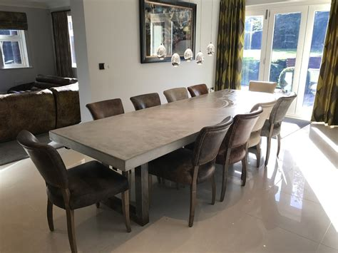 3 Metre Extendable Polished Concrete Dining Table