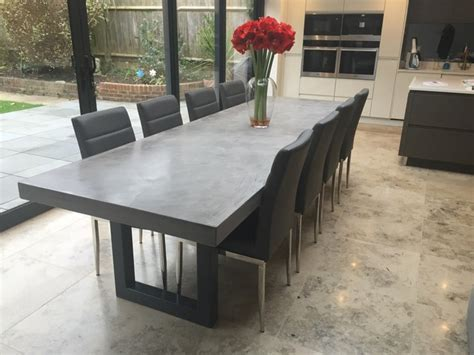 3 Metre Polished Concrete Dining Table Kitchens