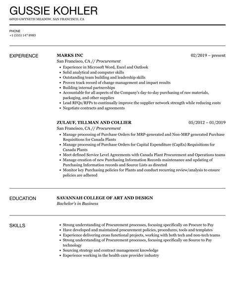 3 procurement resume samples examples download now - Procurement Resume